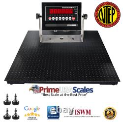 NTEP 6500 lb x 2 lb 4x5 (48x60) Pallet Floor Scale with Indicator Legal 4 Trade
