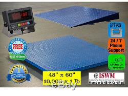 New 10000 lb x 1 lb 5'x4' (60 x 48) Floor Scale / Pallet Scale with Ramp