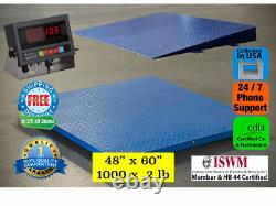 New 1000 lb x. 2 lb 5'x4' (60 x 48) Floor Scale / Pallet Scale with Ramp