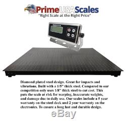 New 2,000 lb x. 5 lb 5'x5' (60 x 60) Floor Scale / Pallet Scale with Ramp
