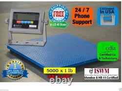 New 5'x4' (60 X 48) Floor Scale Pallet Scale With Metal Indicator 5000 Lb 1 Lb