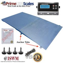 New 8,000 lb x 1 lb 5'x5' (60 x 60) Floor Scale / Pallet Scale with Ramp