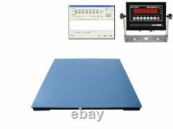 New Ntep Legal 48 X 48 Floor Scale Pallet 2000 Lbs X. 5 Lb With Data Software