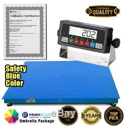 New Prime Scales 10000lb Pallet Scale /Floor Scale with Indicator 40x40 Cal-Cert