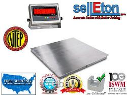 Ntep 48 X 48 (4' x 4') Floor Scale Pallet Scale Stainless Steel 5000 X 1lb