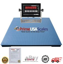 Optima Scale NTEP Legal for Trade 5x5 Feet Floor Pallet Scale 10,000 lb