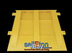 Pallet Industrial 48 x 48, 10,000 lbs x 1 lb Floor scale + Printer with Ramp