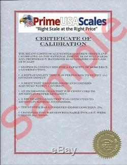 Pancake Floor Scale 10'x10' Pallet Scale 14,000 lb Ramps Forklift Scale
