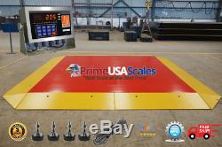 Pancake Floor Scale 10'x10' Pallet Scale 5,000 lb Ramps Forklift Scale