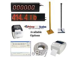 Pancake Floor Scale 5' x 6' Pallet Scale 2,500 lb Ramps Forklift Scale