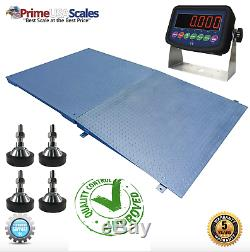 Prime 48x48 Pallet Size 4x4 Floor Scale With a Ramp Capacity 5000 lb X 1 lb