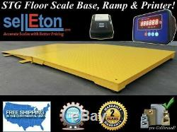 STG-60 x 60 Floor Scale Pallet Size Indicator & Printer 10000 lbs x 1 lb