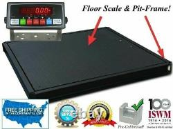 Selleton 48x48 (4'x4') Floor Scale with Pit Frame Pallet size 2500 lbs. X. 5lb