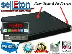 Selleton 60x60(5'x5') Floor Scale 5,000 lbs. X1 lb. With Pit Frame Pallet size