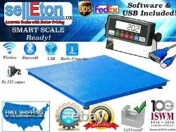 Selleton Floor Scale Pallet Scale With Software & Usb 2500 Lb. 5 Lb (40 X 40)