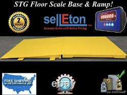 Stg-60 X 60 Floor Scale Pallet Size With Indicator & Printer 2500 Lbs X. 5 Lb