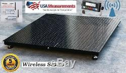 Wireless Floor Pallet Scale 60 x 60 (5' x 5') 5,000 lb No Cables